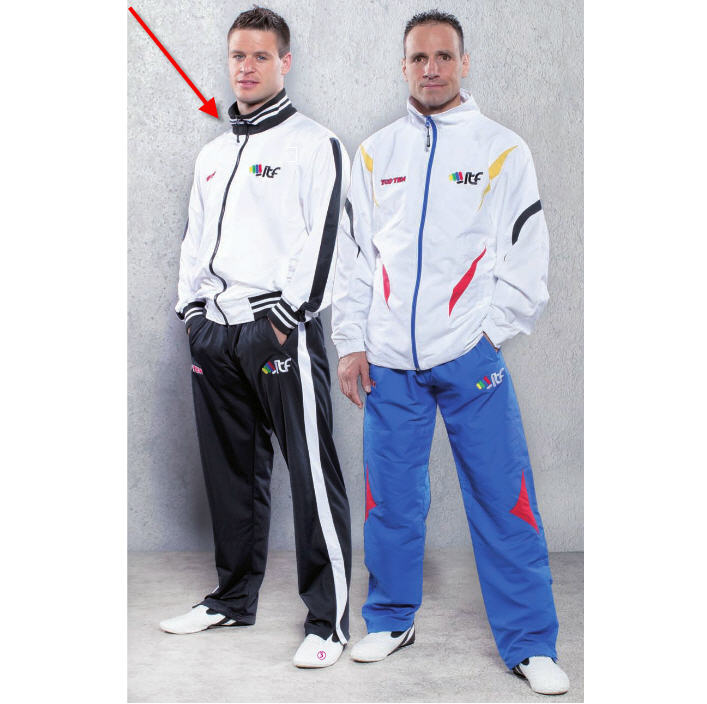 Tracksuit Topten ITF Training Suit, White/Black