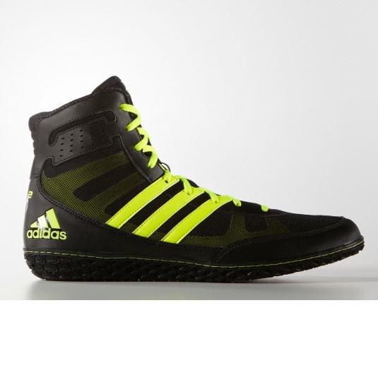 NICOPIASPORT Adidas Mat Wizard 3 Wrestlingshoe, Schwarz / Gelb