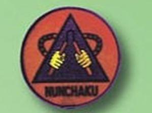 Broderat Märke Nunchaku Röd
