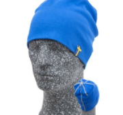 Embla Beanie, Blue/Yellow One size