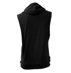 Topten  Biceps Sleeveless T-shirt med Hood, Svart