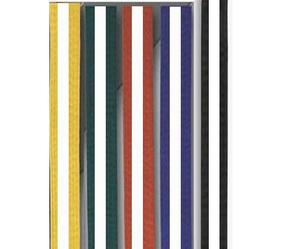 Moon bälte färgade/vit stripe 4  - 4,5 cm 260 cm