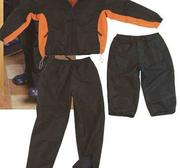 Tracksuit Florens  Black/Orange, X-Small