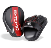 Bytomic AXIS Curved  Focus Mits, Black/Red (pair)