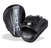Bytomic AXIS Curved  Focus Mits, Black/Grey (pair)