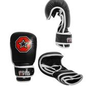 Topten MMA Striking Training Gloves, Black/White