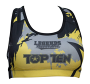 "Topten ""Vikings"" SportsBra, Black/Yellow"