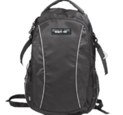 Black Hill Rhodos Back Pack, Black  (27 liter) with print