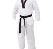 JC WTF Vortex Fighter II Dobok, Black Collar, WTF approved