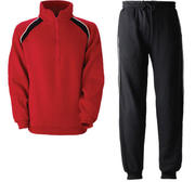 Joggingset, Red mixed shades/Black  Small