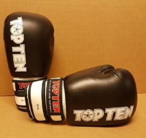 Topten Boxningshandske Fight II, Svart/Vit  16 oz