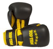 """Topten Boxingglove """"Elite"""", Black/Yellow 10 oz"""