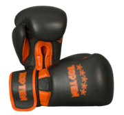 "Topten Boxningshandske ""Elite"", Svart/Orange 12 oz"