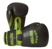 "Topten Boxingglove ""Elite"", Black/Green 16 oz"