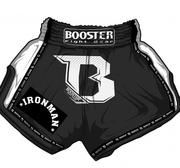 Booster Pro Thaishorts, IRONMAN Svart