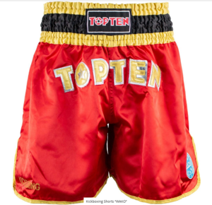 Topten Kickboxningsshorts WAKO  Röd/Svart