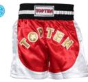 Topten Kickboxningsshorts Kick Light  Röd