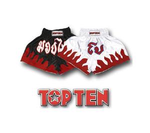 Topten Thaiboxningshorts Fire vit