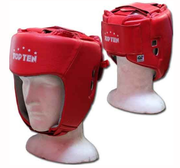 AIBA Topten Head guard  Leather, Red