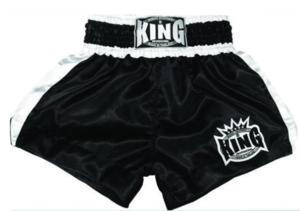 King Thaishorts Plain Logo, Svart