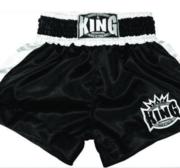 King Thaishorts Plain Logo, Black