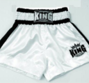 King Thaishorts Plain Logo, White