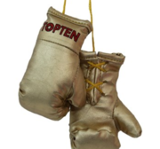 Mini boxing gloves Topten, Gold