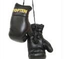Mini boxing gloves Topten, Black