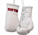 Mini boxing gloves Topten, White