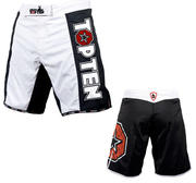 Topten MMA Board Shorts, Black/White
