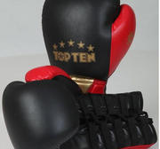 Topten Boxingglove Fight RED Elite, lace 16 oz