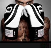 Booster Pro Range Boxingglove, Leather Black/White