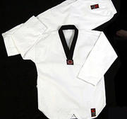 Wacoku WTF Dobok Ribbed Blackcollar