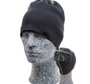 Embla Beanie, Black/Green One size