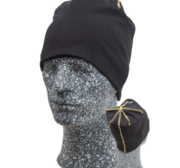 Embla Beanie, Black/Yellow One size