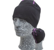 Embla Beanie, Black/Purple One size