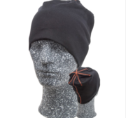 Embla Beanie, Black/Orange One size