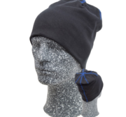 Embla Beanie, Black/Blue One size