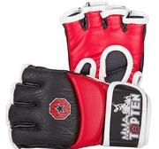 Topten MMA Ultimate Gel Fight Gloves, Red/Black