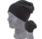 Hugin Beanie, Black/Black One size