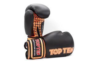 Topten Boxningshandske Fight, Svart/Orange 10 oz