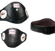 Twins Bellyprotector Thaiboxing Black Large