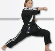 Hayashi Osaka Freestyle Karate GI, Svart 170 cm