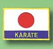 Patch Japan Flag Karate