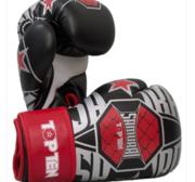 """Topten Boxingglove """"Samurai""""  White/Red 10-12 oz"""
