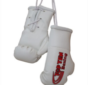 Mini boxing gloves Topten White