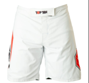 "Topten MMA Board Shorts ""Triangle"" White/Black"