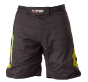 "Topten MMA Board Shorts ""Triangle"" Black/Yellow"