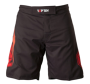 "Topten MMA Board Shorts ""Triangle"" Black/Red"