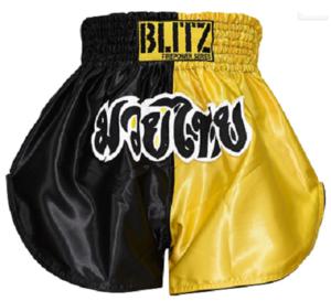 Blitz  Kids Thaishorts Gul/Svart
